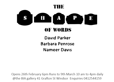 The Shape of Words Invitation